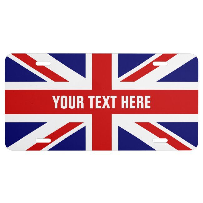 British Flag License Plate With Union Jack Zazzle Com In 2020 British Flag Nightlife Travel Union Jack