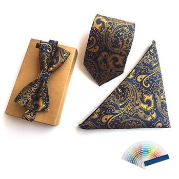 Superior Matching Neck Ties, Bow Ties and Pocket Squares