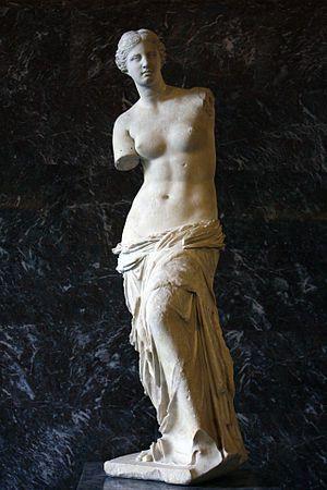 предп. Александр Антиохийский[1] Венера Милосская. Около 130—100 до н. э. Мрамор. Высота 2,02 м Лувр, Париж