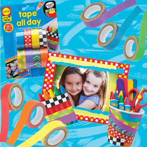 Paint, crayons…nope, here comes tape in fun colors and patterns, the new medium for crafting! ‪#‎craft‬ ‪#‎preschool‬