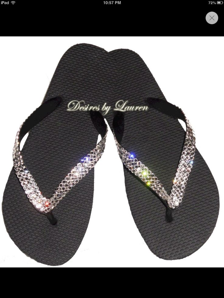 Rhinestone Handmade ace embellished flip flop shoes recommend dress in summer in 2019