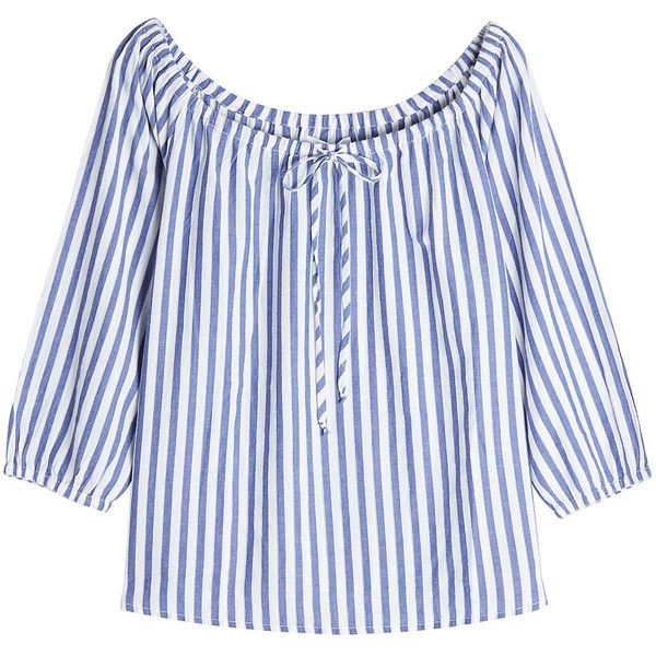 Velvet Striped Cotton Blouse ($149) ❤ liked on Polyvore featuring tops, blouses, stripes, cotton summer tops, tie blouse, velvet top, blue and white striped top and cotton blouse