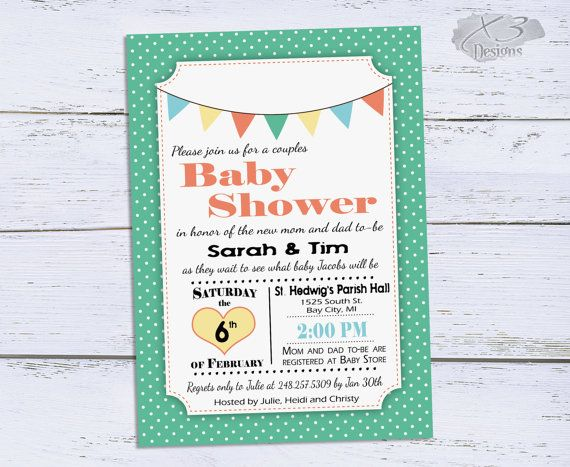 Baby Shower Invitation, Printable Baby Boy Shower Invitations, DIY Gender Neutral Shower Invite, Girl Baby Shower Invitations by X3designs