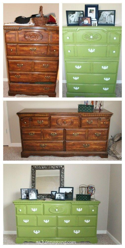 Master Bedroom {Settled In September Series} Furniture Before and After Makeover