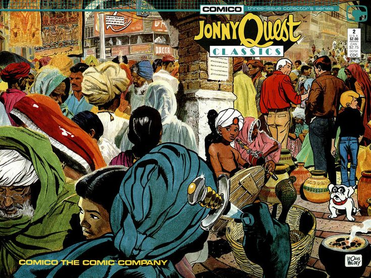 Cover for Jonny Quest Classics (Comico, 1987 series) #2 [Direct Edition]