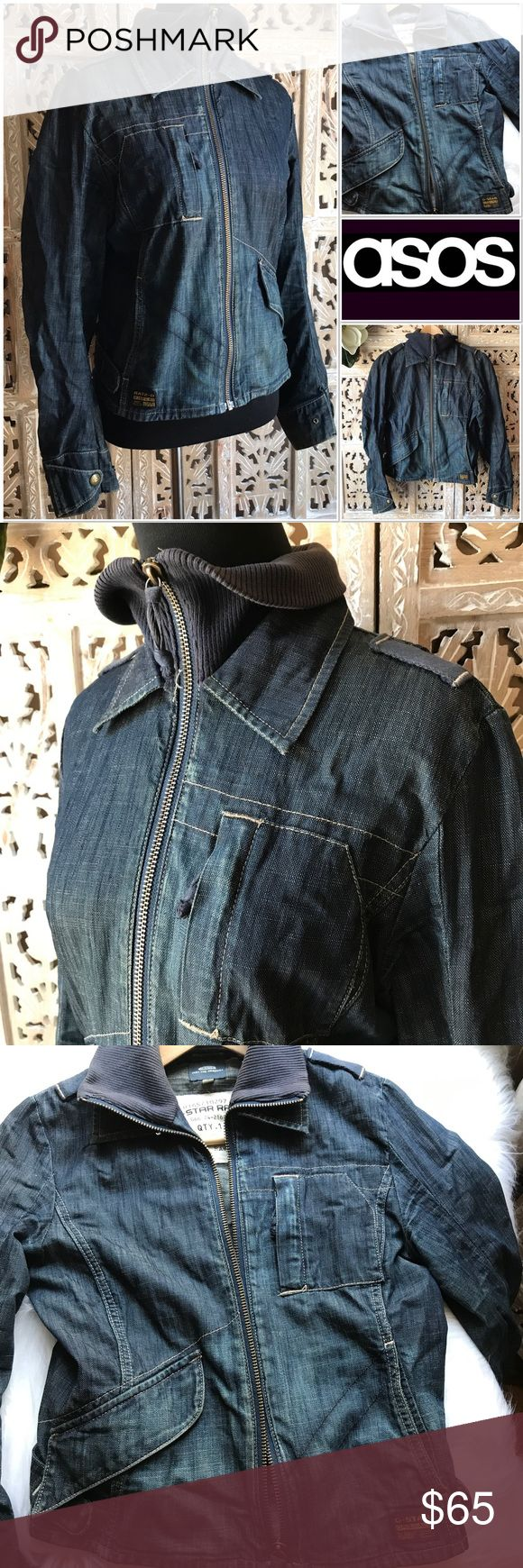 """[G-Star Raw] denim women's jacket size Small [G-Star Raw] denim women's jacket size Small. This jacket is the best denim jacket you will ever have. I wish it still fit me. I would never let it go if it did. Very good condition. It is very well made. Quality is excellent. Across chest about 17 1/2"""". Jacket length about 20"""". G-Star Jackets & Coats Jean Jackets"""