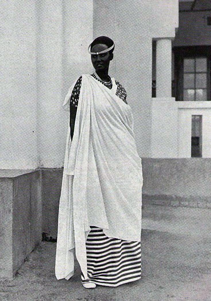Africa | Princess Emma Bakayishonga, daughter of King (Mwami) Yuhi wa V Musinga and sister of King Mutara III Rudahigwa. Rwanda || Date and photographer unknown