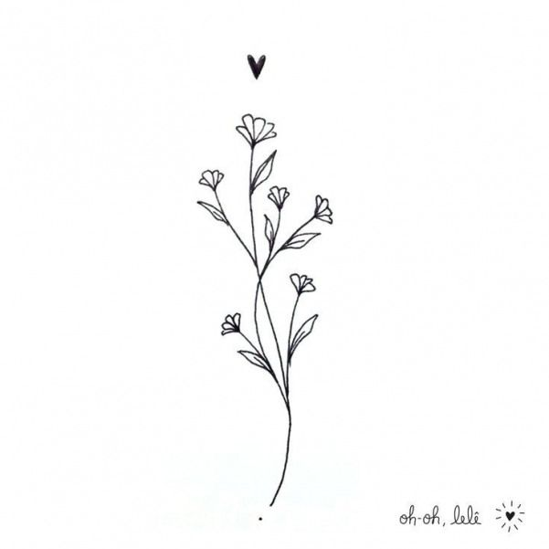 This Is Very Well Drawn Flower That Would Made The Cutest Dainty Tattoo Tattoostyle Tattoo Style Illu Dainty Tattoos Dainty Flower Tattoos Larkspur Tattoo