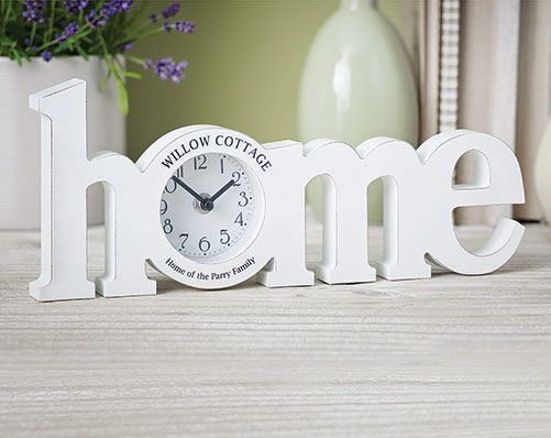 Home Wooden Clock - Ideal for mantlepiece or shelf,  personalise just for you x