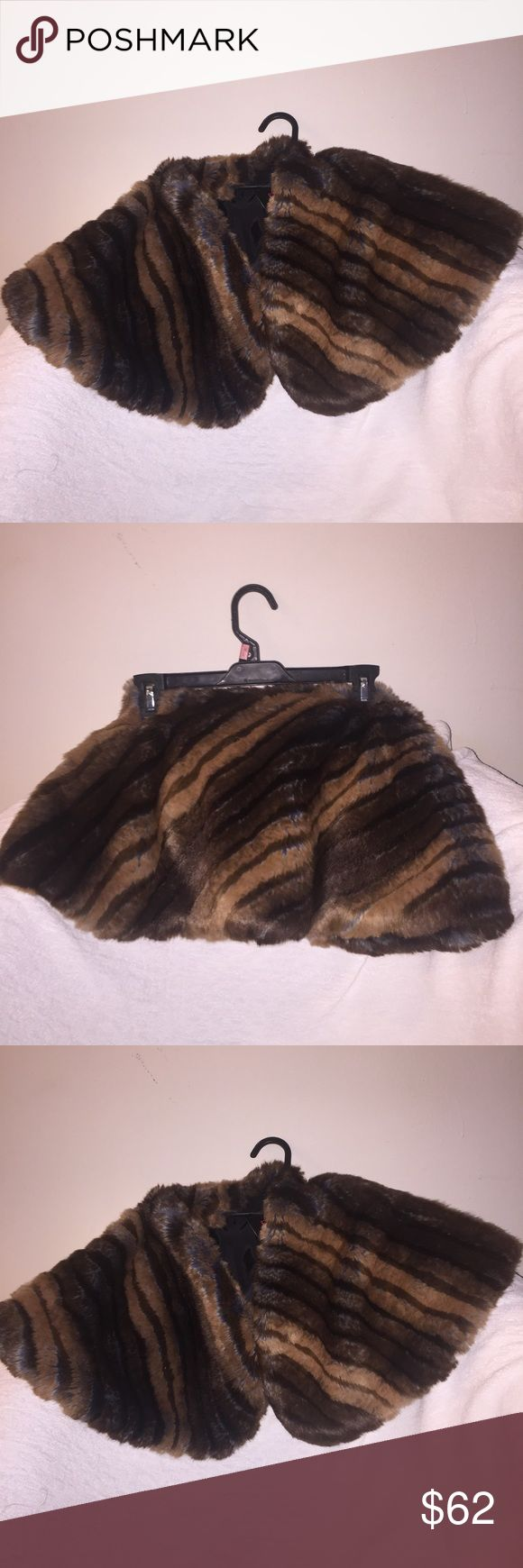 Kyi Kyi Faux Fur Bolero New With Tag Can be worn on top of a dress and more Jackets & Coats Vests