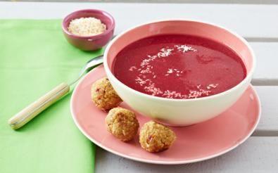 Polévka z červené řepy s quinoa-kokosovými kuličkami / Polévky / Recepty / E-shop / SONNENTOR.cz - SONNENTOR - Tady roste radost - biočaje a biokoření