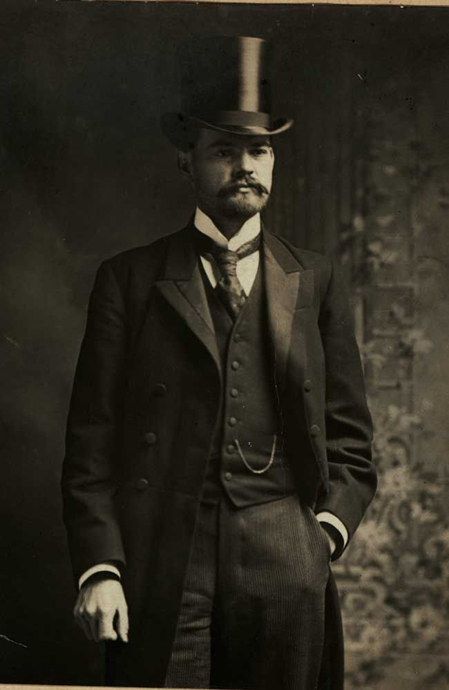 Herbert Hoover, ca. 1899. Can't resist a good top hat and 'stache!
