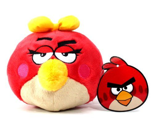 Furyu Official Angry Birds 55 Plush Red Girl Bird ** More info could be found at the image url.