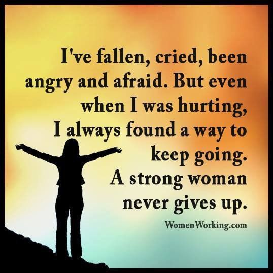 """""""A strong woman never gives up #courage #strength #tenacity"""" : The Mood Cards - twitter"""