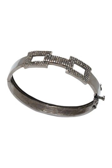 Champagne Diamond Box Link Bangle - 1.80 ctw by Jewels By Lori K (Lori Kassin)