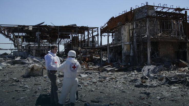 Obrona donieckiego lotniska trwała ponad 240 dni. Na zdjęciu zgliszcza po walkach #Ukraina #kryzys