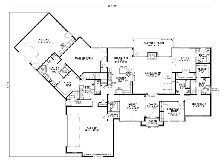 like placement of laundry room First Floor Plan of Traditional House Plan  61291. 53 best House Plans   Nah images on Pinterest   Home plans