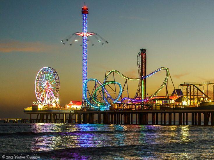 Galveston Island Historic Pleasure Pier Rollercoasters Pinterest Road Trippin Islands And