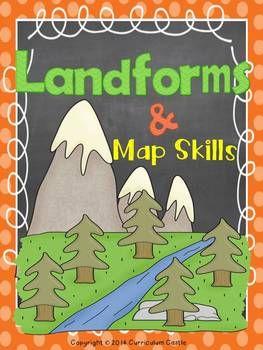 Landforms & Map Skills Unit for Grades 1-3!