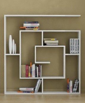 Bright Creative Ideas for White Bookshelf in Modern Style: Amazing Minimalist Creative Ideas For White Bookshelf Square Shape ~ Furniture Inspiration