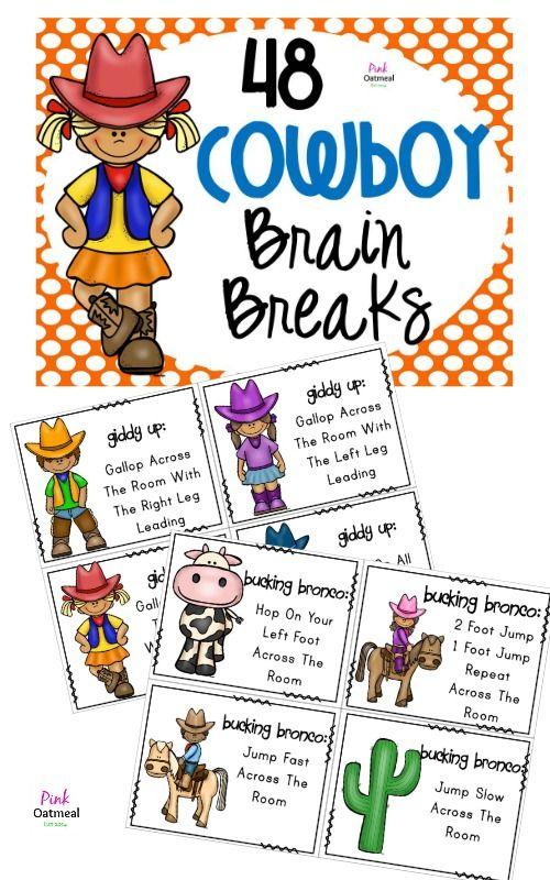 Cowboy Themed Brain Breaks!