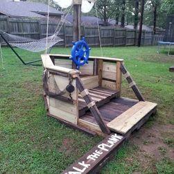 pirate ship playhouse - Google Search