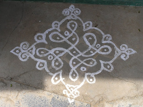 Kolam, Indian floor art