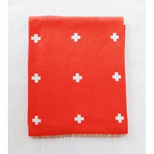 Cross Blanket Tangerine Large
