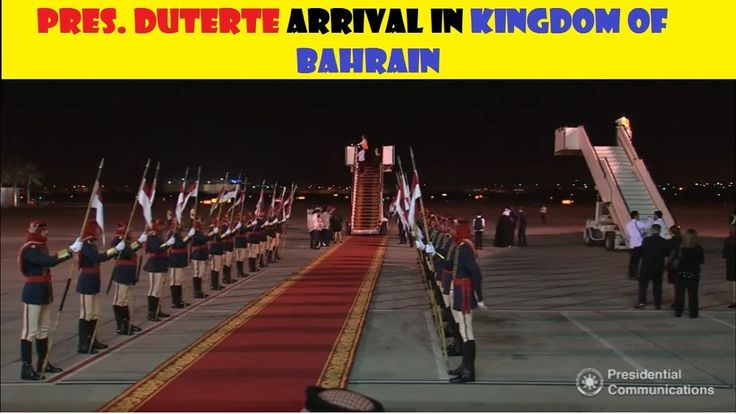 """""""LIVE"""" PRES. DUTERTE ARRIVAL IN KINGDOM OF BAHRAIN - WATCH VIDEO HERE -> http://dutertenewstoday.com/live-pres-duterte-arrival-in-kingdom-of-bahrain/   """"LIVE"""" PRES. DUTERTE ARRIVAL IN KINGDOM OF BAHRAIN News video credit to YouTube channel owners  Disclaimer: The views and opinions expressed in this video are those of the YouTube Channel owners and do not necessarily reflect the opinion or position of the site owners/FB admins."""