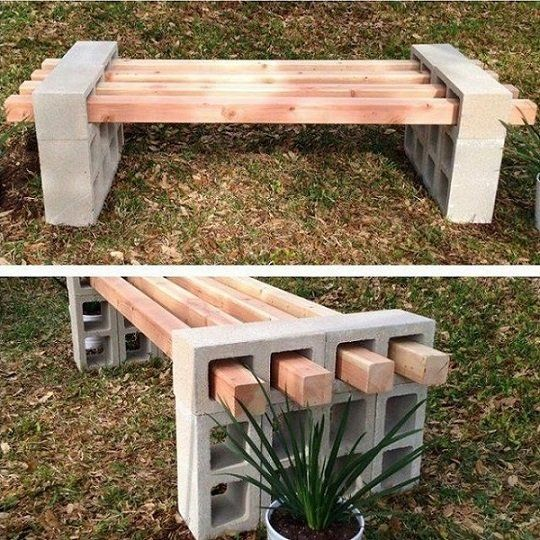 Great idea for all those cinder blocks we have!