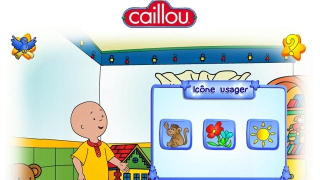 Caillou website for kids - en francais.