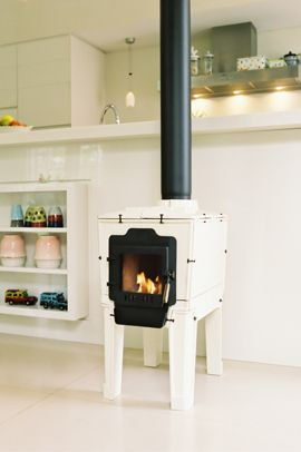 Tile stove Small white
