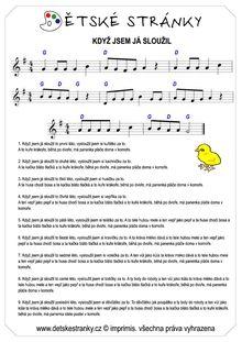 Když jsem já sloužil - Básničky a písničky - Dětské stránky ...