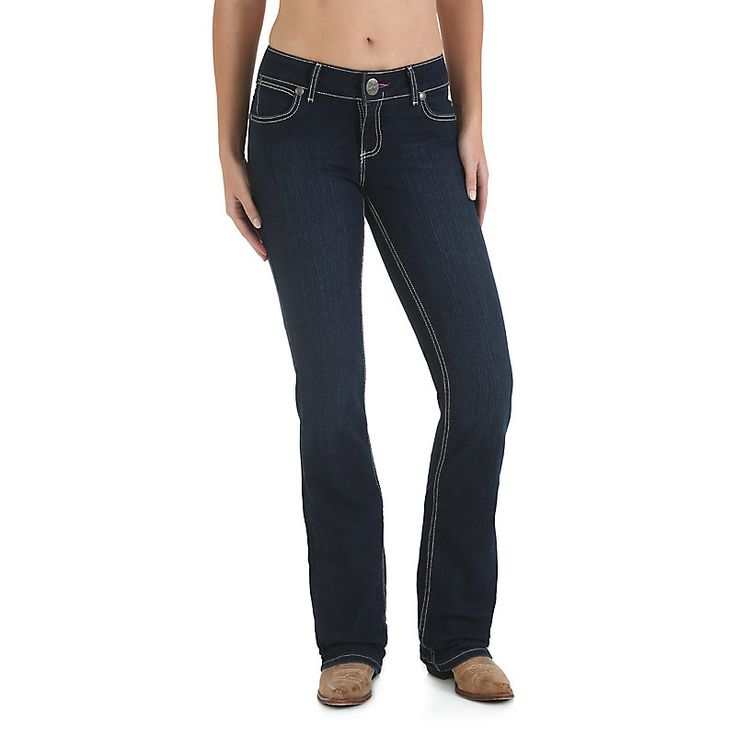 Wrangler Women's Retro Mae with Booty Up Technology Jeans (Size: 15 x 32) Dark Blue