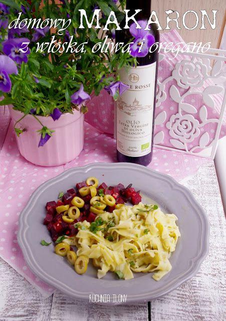 Makaron z oregano i włoską oliwą extra vergine Terre Rosse