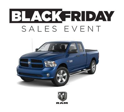 Black Friday Lease Special on 2017 Ram 1500 Quad Cab Models