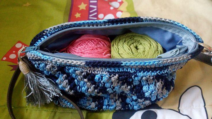 Bag with nylon and 3,5 mm hook pen #crochet #crocheting #bag