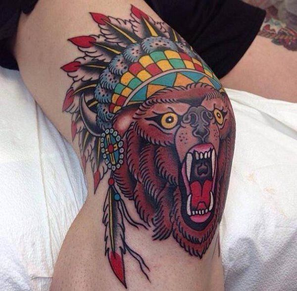 19 Knee Tattoo Designs Images And Pictures: 75 Best Knee Tattoo Images On Pinterest
