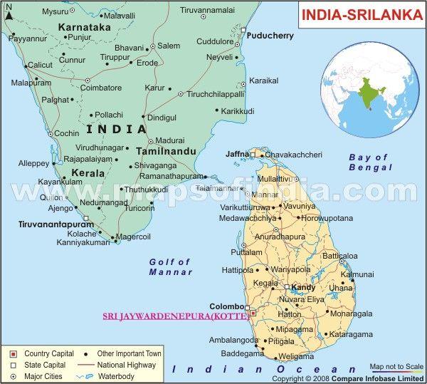 how to call sri lanka from india
