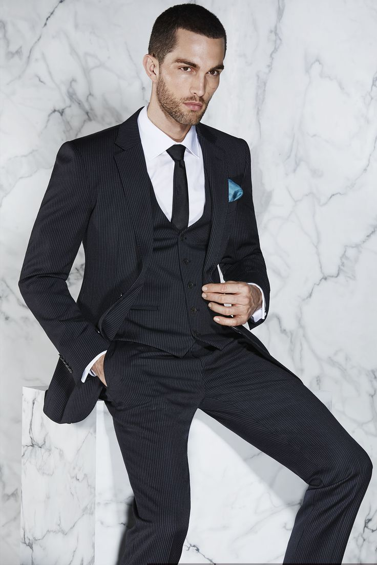 The Style Master - The Harvey Pinstripe Suit http://www.calibre.com.au/lookbook/look-164
