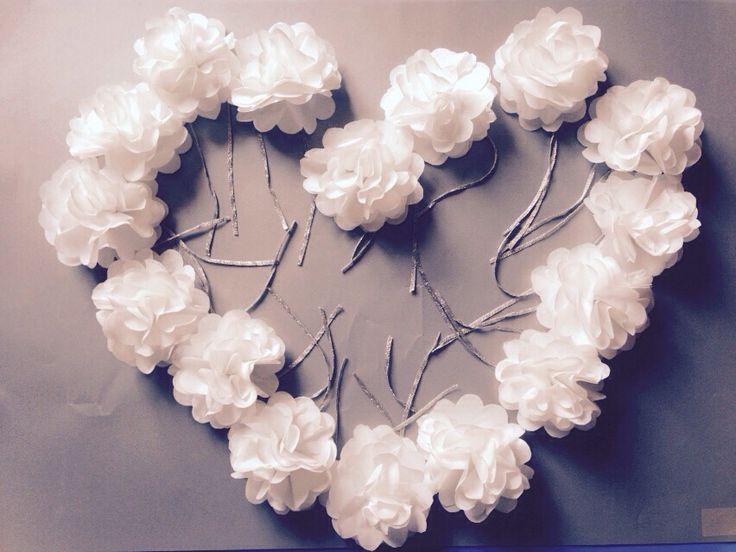Corsare da polso per addio al nubilato - fiori di carta