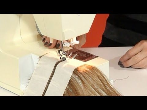 Learn how to make machine sewn wefted hair extensions with this free tutorial video!