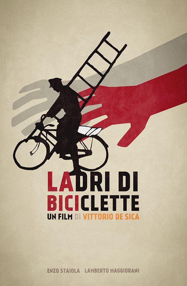 Ladri di biciclette (1948) ~ Minimal Movie Poster by Neven Udovicic #amusementphile