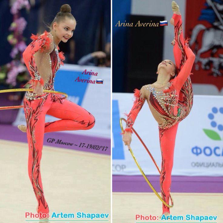 Arina AVERINA (Russia)🇷🇺 ~ Collage Hoop @ GP Moscow 02/2017🇷🇺 😘😘 Photographer 🇷🇺Artem Sharpaev.