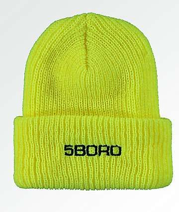 5Boro Ext Logo Safety Yellow Beanie