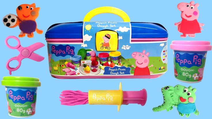 PLAY DOH Peppa Pig Español 2016✔✔ Peppa Pig Play Doh Picnic Dough Set Peppa Toys Videos https://www.youtube.com/watch?v=pzESks4nc8c