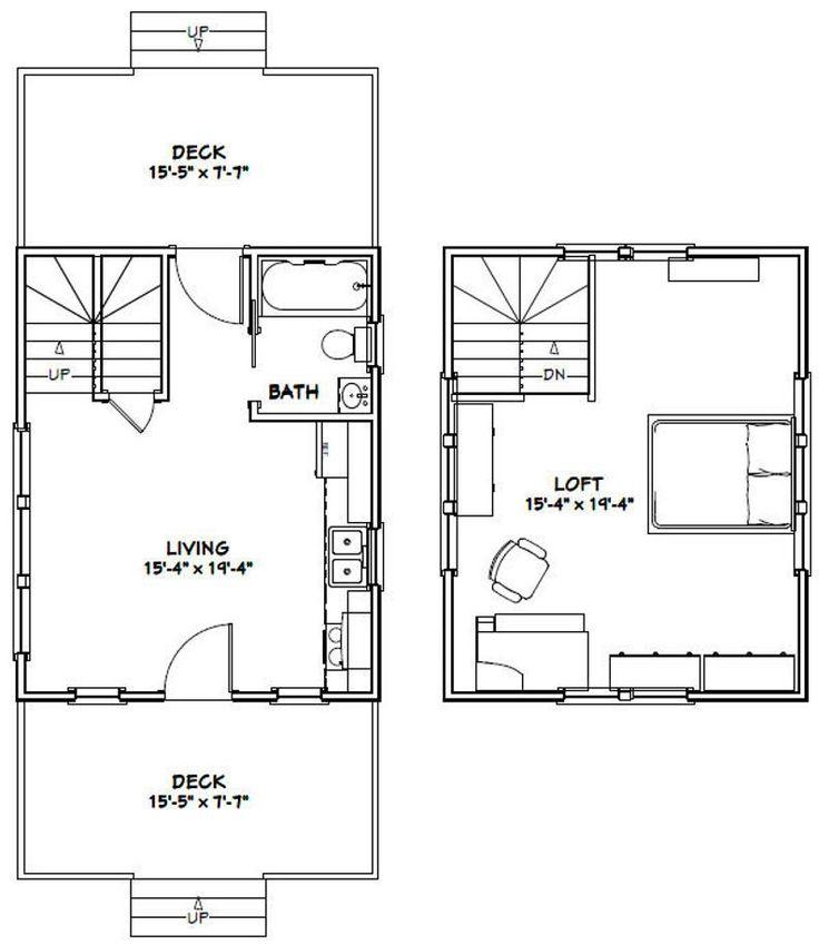 16x20 House 1 Bedroom 1 Bath 574 Sq Ft Pdf Floor