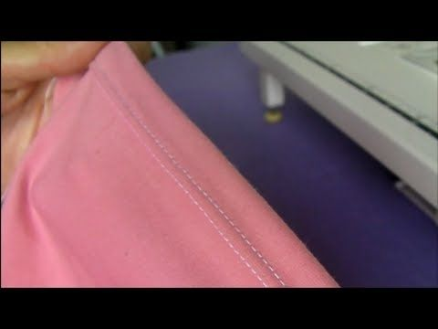 How to thread and use a double or twin needle. Shows how to hem knit fabrics and even how to use it for decorative stitching.