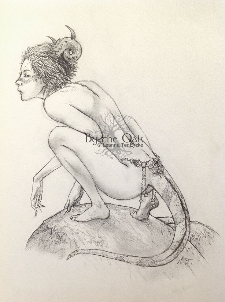 Original Drawing Nude Lizard Girl With Tail Adult Fantasy Art Pencil Sketch 7x8 Naked Woman by bytheoakArt on Etsy https://www.etsy.com/listing/240196876/original-drawing-nude-lizard-girl-with