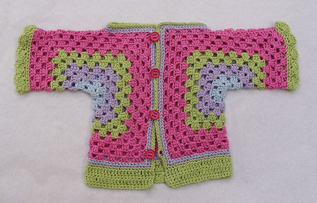 How To Crochet A Granny Hexagon Baby Surprise Sweater!